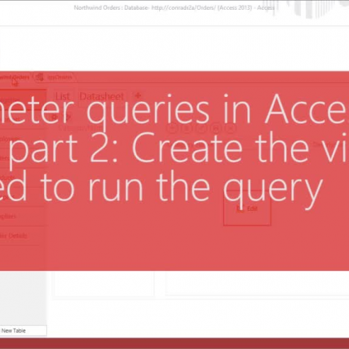 Parameter queries in Access Apps, part 2: Create the views needed to run the query