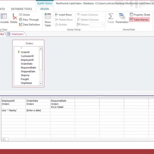 Use an Update query to change data in multiple tables