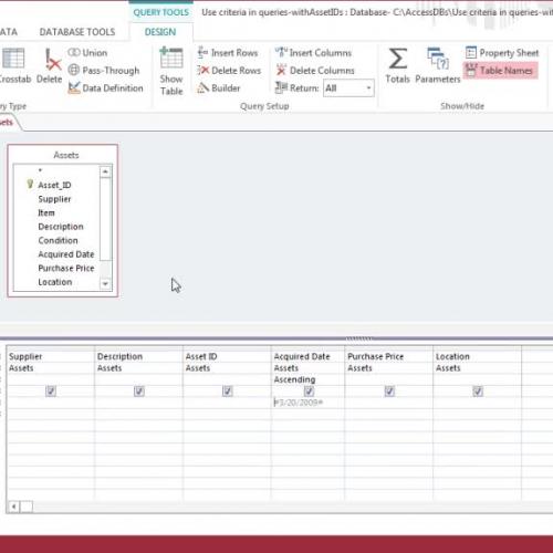 Using date criteria in queries