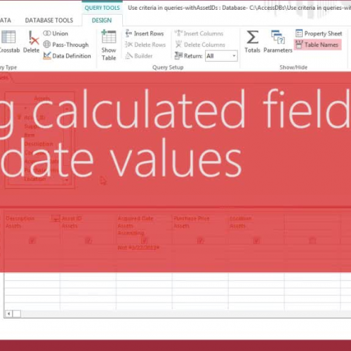Using calculated fields with date values