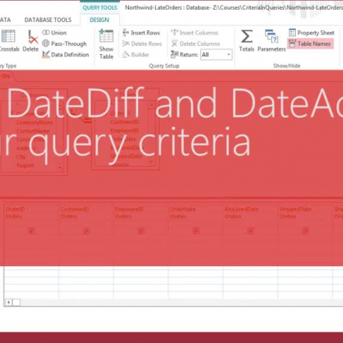 Using DateDiff and DateAdd in your query criteria