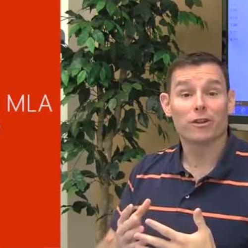 Using an MLA template