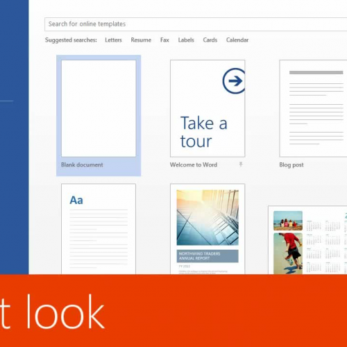 A first look at Word 2013
