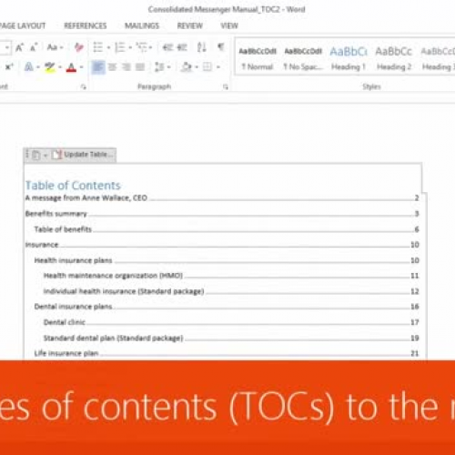 Take tables of contents (TOCs) to the next level