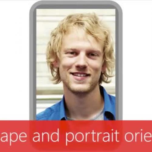 Use landscape and portrait orientation