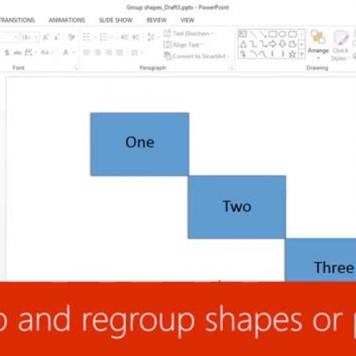 Ungroup and regroup shapes or pictures