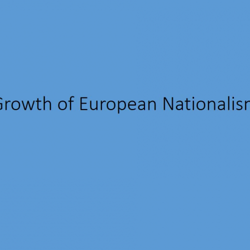 Growth of Nationalism