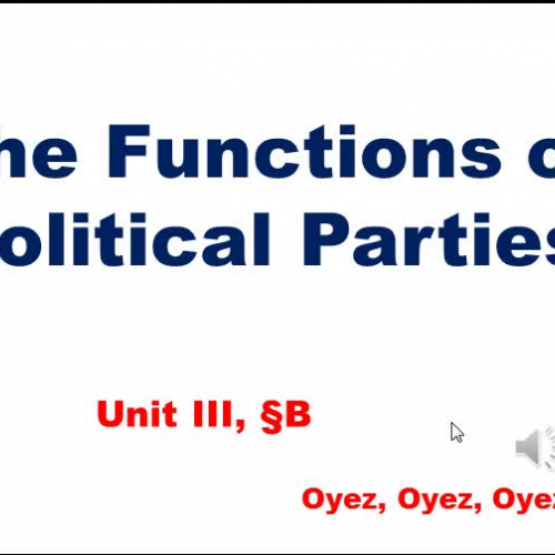 3b - Functions of Political Parties