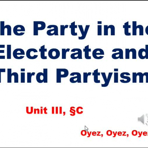 3c - The Party in the Electorate and Third Partyism
