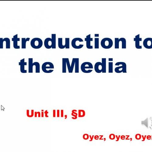 3d - Intro to the Media