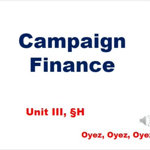 3h - Campaign Finance