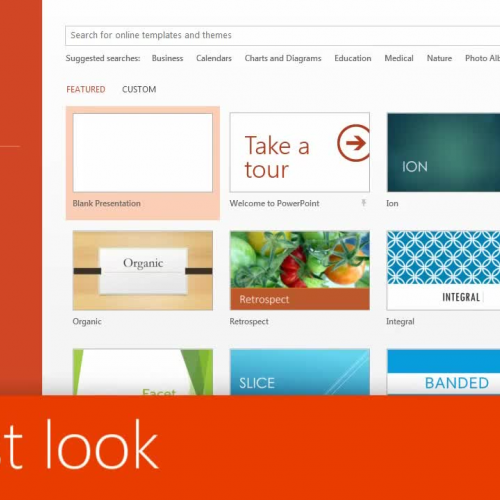 A first look at PowerPoint 2013