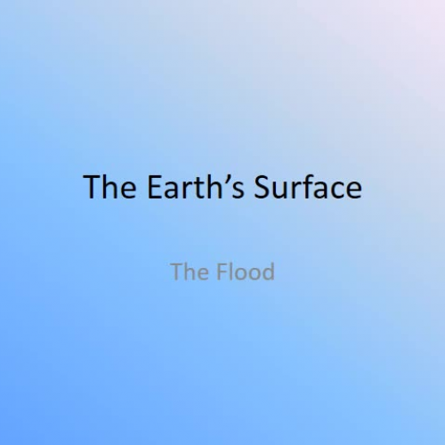 The Earth's Surface - The Flood