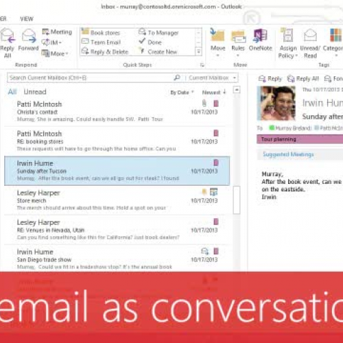 Show email as conversations