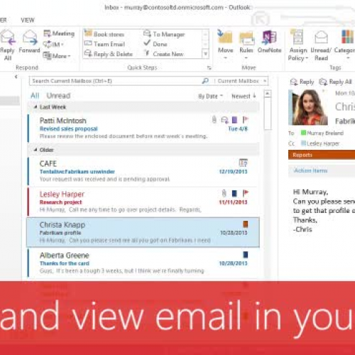 Group and view email in your Inbox