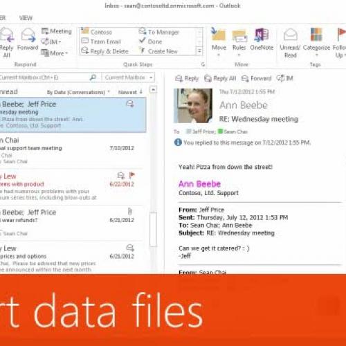 Import data files