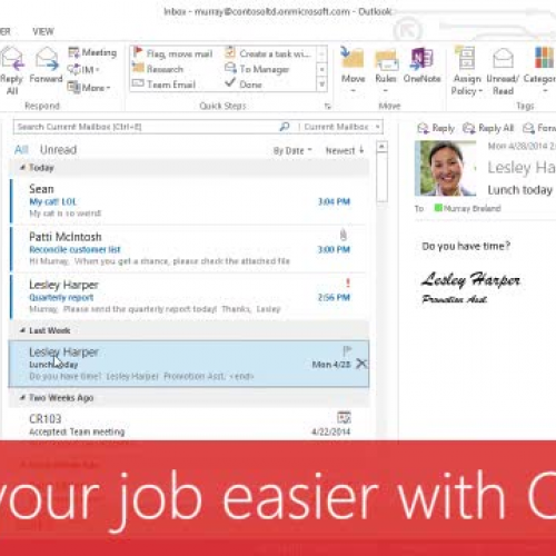 Make your job easier with Outlook