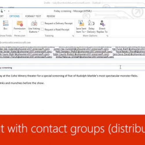 Reach out with contact groups (distribution lists)