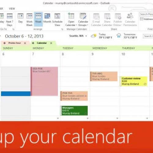 Back up your calendar
