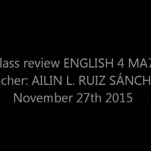 ENGLISH 4MA7 Class at Universidad del Valle de México