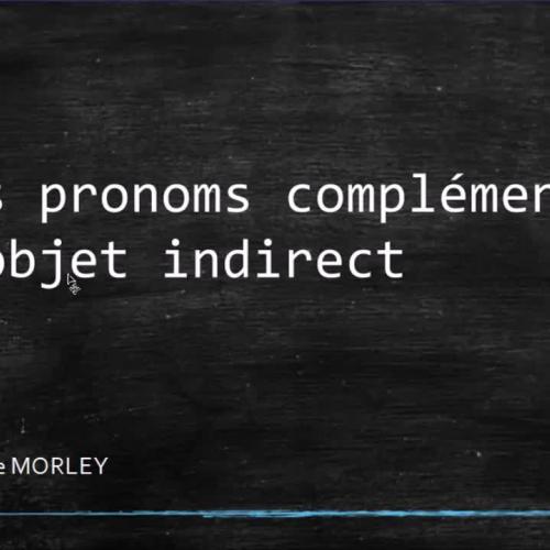 Les pronoms compléments d'objet indirect