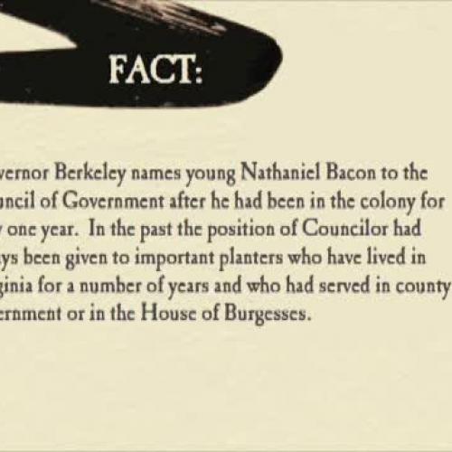 New Beginning Nathaniel Bacon
