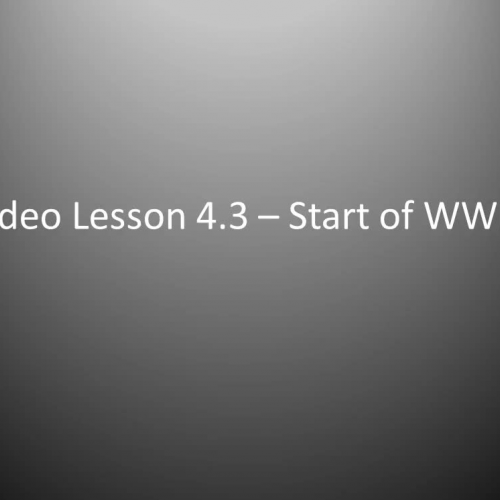 WHII.4.3 - Start of WWII