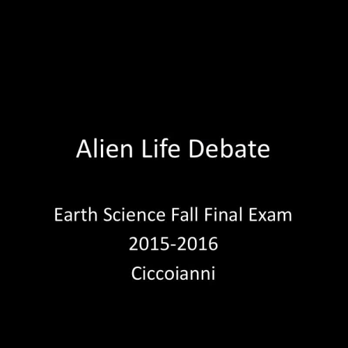 Alien Life Debate Intro