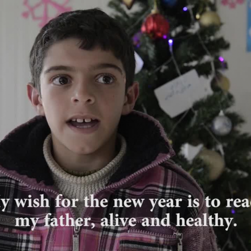 Refugee Children Make New Year's Wishes