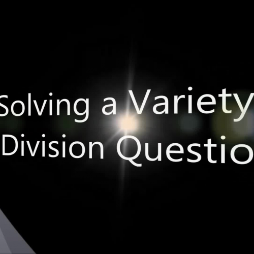 How to solve long division questions