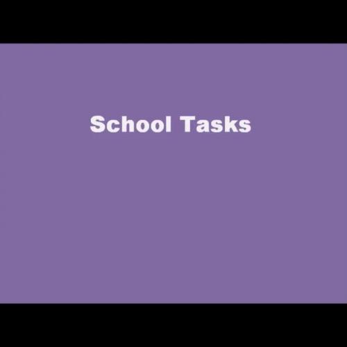 School Task Signs