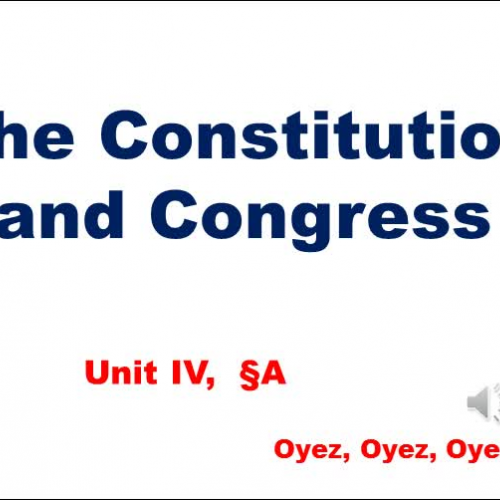 4A: The Constitution and Congress