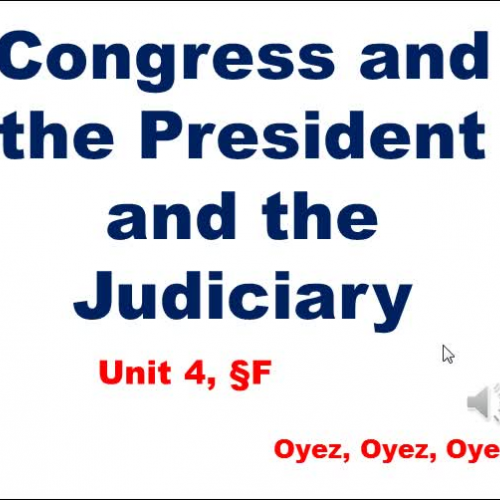 4F: Congress and the Other Branches