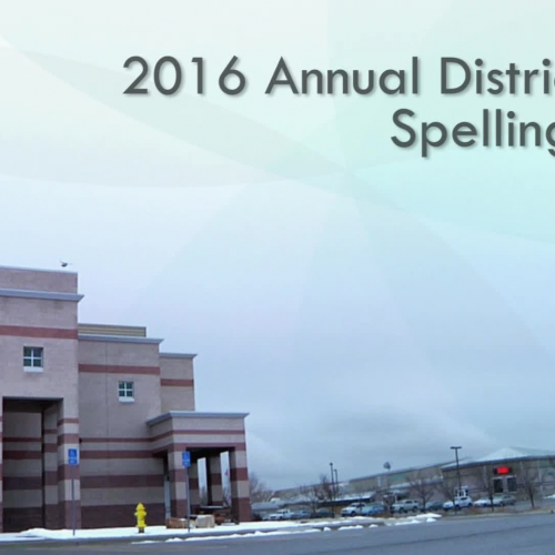 2016 District Spelling Bee   Central Consolidated School District   Shiprock, NM