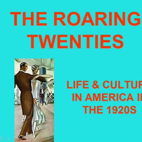 1920s Lecture Part #1