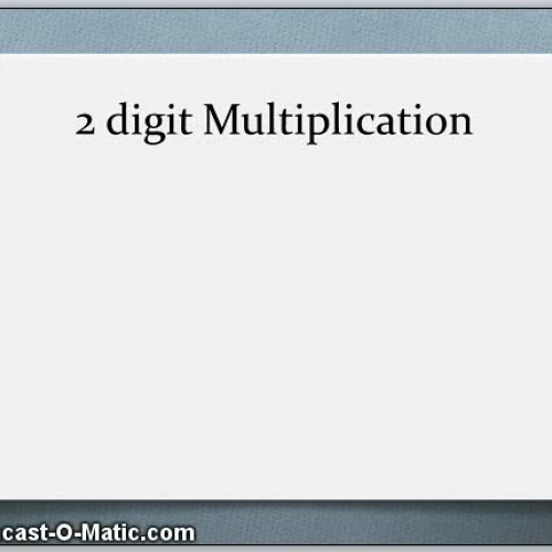 2 digit x 2 digit Multiplication - Alternate Strategy