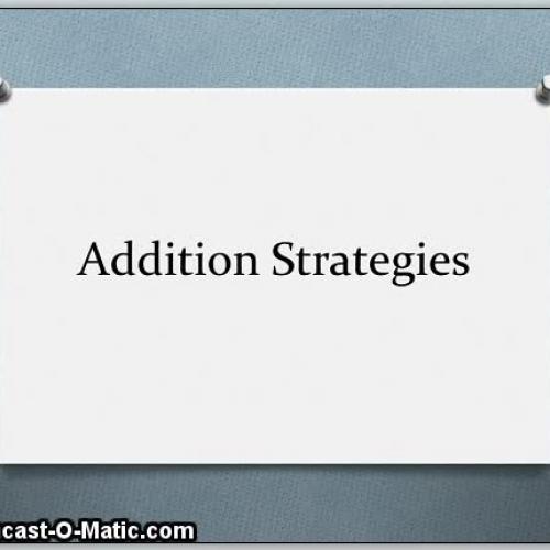 Understanding Addition Strategies