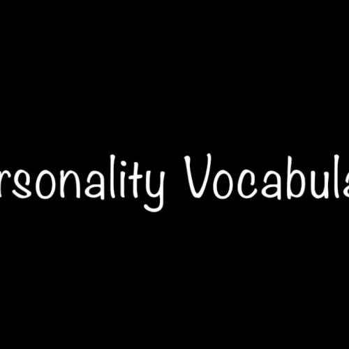 Personality Vocabulary