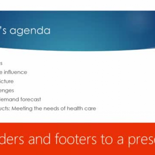 Add headers and footers to a presentation