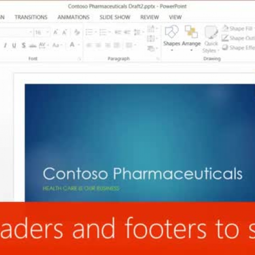 Add headers and footers to slides