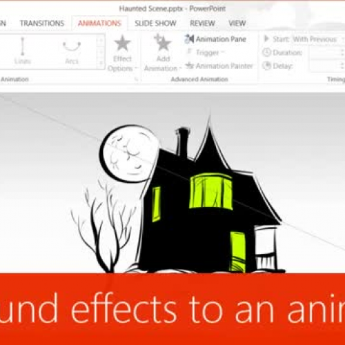 Add sound effects to an animation