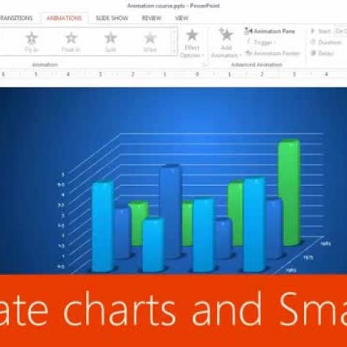 Animate charts and SmartArt