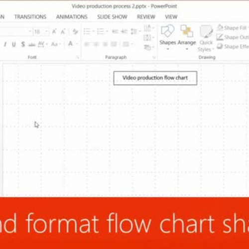 Draw and format flow chart shapes