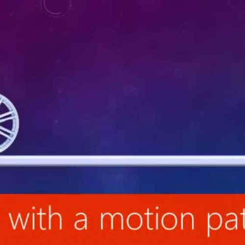 Work with a motion path
