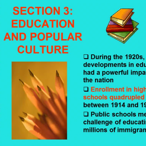 1920s Lecture Part #2