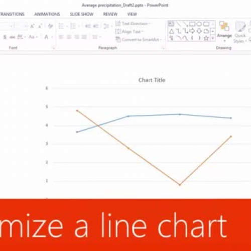 Customize a line chart