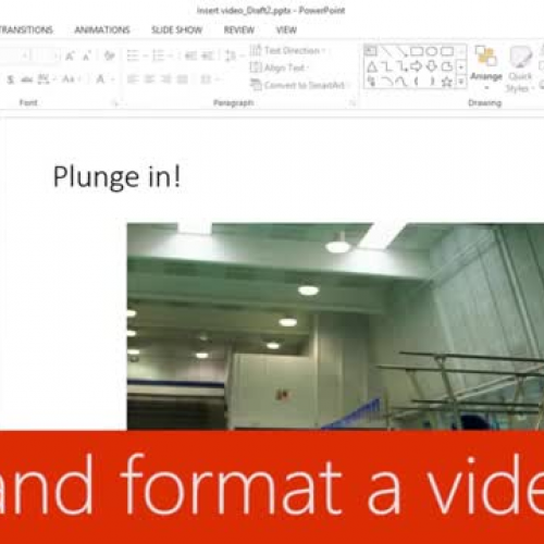Edit and format a video