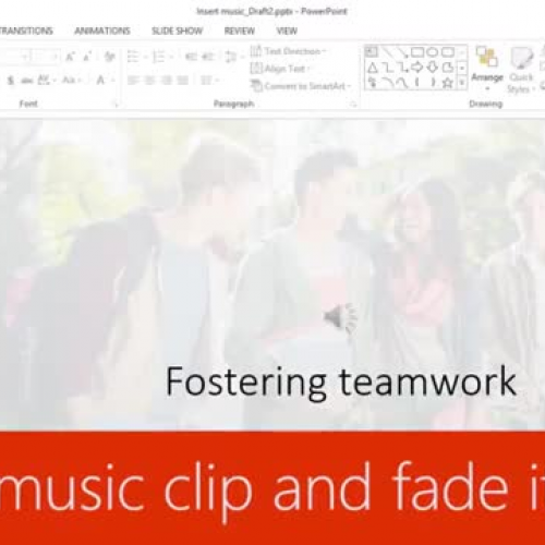 Trim a music clip and fade it out