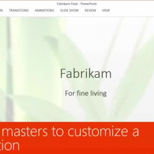 Use slide masters to customize a presentation