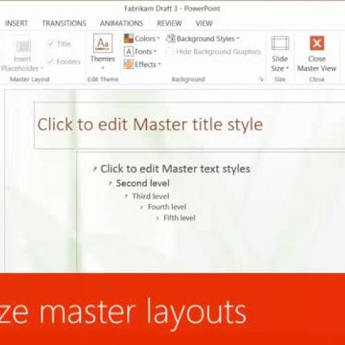 Customize master layouts